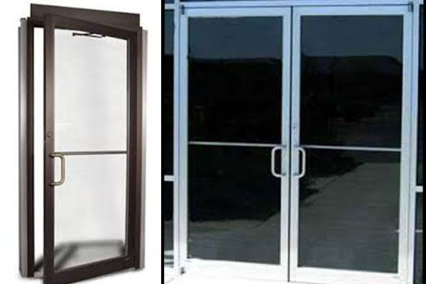 Commercial Aluminum Doors : Commercial aluminum glass doors door repair