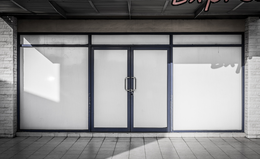 Store door besam automatic swing doors at target in